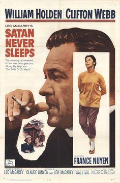 Satan never sleeps 1962 Movies 2019, Hd Movies, Films, Satan, France Nuyen, Clifton Webb, Sleep Late, Original Movie Posters, Film Posters