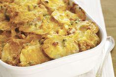 Gratin de pommes de terre simplifié ------------------------Vous aimez le gratin de pommes de terre? Jamais vous n'en trouverez un aussi délicieux et aussi facile à réaliser. Vous n'avez même pas besoin de disposer les pommes de terre en couches!