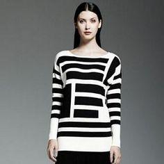 Catherine Malandrino for DesigNation Striped Oversized Sweater (Kohl's) $51