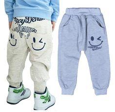 4424f0080c47 New 2017 Hot Sale Children cotton pants Boys Girls Casual Pants 2 Colors  Kids Sports trousers Harem pants