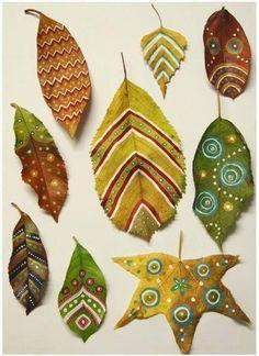 Creative with nature Autumn Crafts, Autumn Art, Nature Crafts, Leaf Crafts, Diy And Crafts, Arts And Crafts, Paper Crafts, Diy For Kids, Crafts For Kids