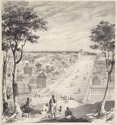 Collins Street, Melbourne in 1840 - a very new town