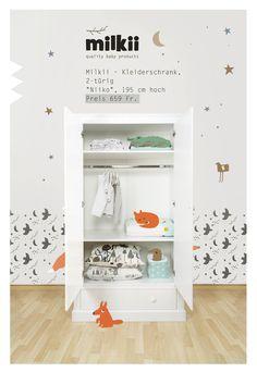 Milkii Kleiderschrank - Babyschrank - Drei-Käse-Hoch Bathroom Medicine Cabinet, Table, Design, Baby Products, Furniture, Home Decor, Blog, Baby Armoire, Reach In Closet