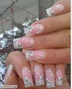 girlshue - 15 Amazing Acrylic Nail Art Designs & Ideas For Girls 2013 Pink Nail Art, Acrylic Nail Art, Pink Nails, Clear Acrylic, Nail Art Designs, Acrylic Nail Designs, Toe Designs, French Nail Designs, Fancy Nails