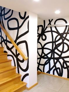 Home Interior Decoration 10 Free-Spirited Painting Designs That Bid Solid-Color Walls Adieu.Home Interior Decoration 10 Free-Spirited Painting Designs That Bid Solid-Color Walls Adieu Wall Murals, Wall Art Decor, Mural Art, Deco Cool, Diy Wall Painting, Wall Painting Colors, Paint Designs, Painting Designs On Walls, Painted Wall Designs