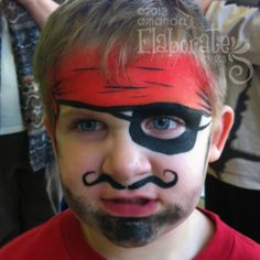 Pirate Face Paint for Boys