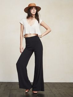 Well hey there, you tall drink of water you. The Testino Pant is just a really sleek pair of bottoms that will have your lower half looking long and lovely. https://www.thereformation.com/products/testino-pant-black?utm_source=pinterest&utm_medium=organic&utm_campaign=PinterestOwnedPins