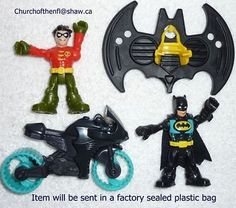 Fisher Price Imaginext DC Super Friends Batman & Robin with Glider and Batcycle