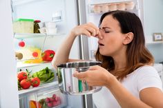 Tired of throwing away rotten and spoiled food? Clean and organize a refrigerator step by step so youc an stop wasting money at the grocery store. Clean Refrigerator, Refrigerator Organization, Organization Hacks, Lunch Items, Dishwasher Detergent, Food Containers, Cleaning Hacks, Cleaning Routines, Grocery Store