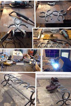 Custom Horseshoe Boot Rack