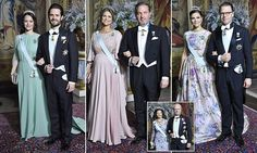 King Carl Gustaf and Queen Silvia hosted the spectacular occasion at the Royal Palace and were joined by Crown Princess Victoria and her husband Prince Daniel.