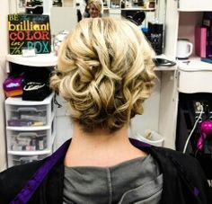 Up for an updo?  Teresa Cox from O'Fallon did a great job!