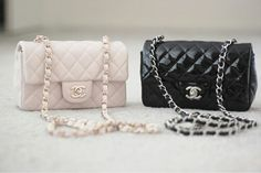 Chanel • bags • elegant • black • cream • quilted • leather • purse • hand bag ♡@lozzyprincess♡