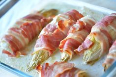 Chicory wrapped in bacon