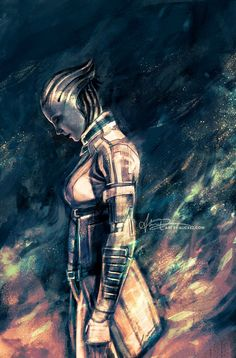 Mass Effect - Liara T'Soni by Alice X. Zhang - SINCE WHEN DID ALICE X. ZHANG MAKE MASS EFFECT ART?!