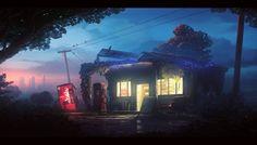 Old gas station by UnidColor.deviantart.com on @deviantART