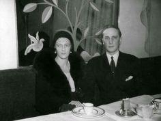 """Princess Irina Alexandrovna Romanova-Yusupova with Prince Felix Felixovich Yusupov in London in 1932. """"AL"""""""