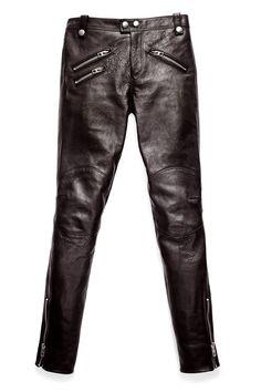 Unos pantalones biker de cuero