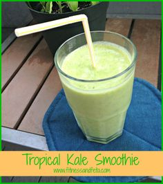 Tropical Kale Smoothie - toddler (and hubby) approved!