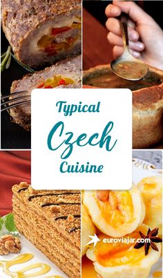 A complete guide to typical Czech food – 25 traditional dishes & desserts explains cuisine divided into vegetarian dishes, soups, meat dishes, sweets and typical drinks. Slovak Recipes, Czech Recipes, Russian Recipes, World Recipes, My Recipes, Cooking Recipes, Favorite Recipes, Eastern European Recipes, European Cuisine