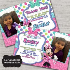 Minnie Mouse Birthday inviteMinnieMinnie's by DIYpartyprint