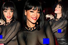 In case you haven't heard, Rihanna wore a see-through top to the Balmain after-party, SEE THROUGH!!!