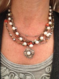 One of my favorite necklaces. This pearl rhyannon necklace is ridiculously versatile! Shop: mysilpada.com/marcie.cohen1