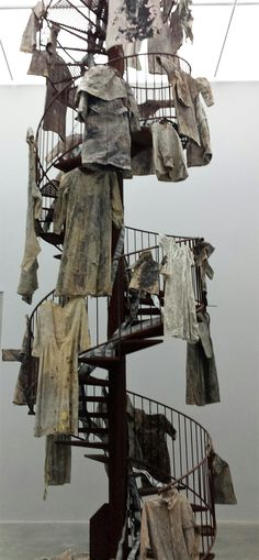 Staircase of the valkyries, Anselm Kiefer at the White Cube, London. Read more at http://www.thestorybazaar.com/anselm-kiefer/