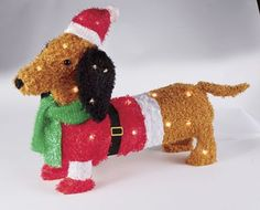 Lighted Christmas Dachshund