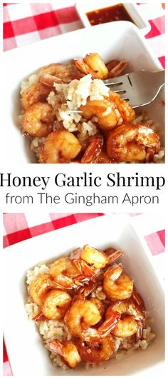 Honey Garlic Shrimp- only 5 ingredients! Addictively delicious and so easy to make!