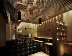 Le designer japonais Takeshi Sano a réalisé le design d'intérieur du Tsujita Restaurant à Los Angeles.