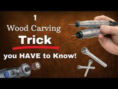 In this Wood Carving/Power Carving how-to tutorial, I show you a tip/trick you have to know! Power up your dremel and get to carving! 🔥 Buy your HairSpray he. Sculpture Dremel, Art Sculpture En Bois, Dremel Wood Carving, Wood Carving Art, Wood Carving Patterns, Carving Designs, Wood Projects, Woodworking Projects, Dremel Tool Projects