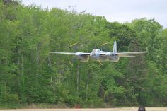 Jerry Yagen and the Military Aviation Museum's de Havilland DH.98 Mosquito performs a low pass at the Fighter Factory's airfield this morning for FAA Inspectors.(Image Credit: Military Aviation Museum)