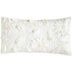 Pier 1 Imports White Floral Applique Pillow Sham ($40) ❤ liked on Polyvore featuring home, bed & bath, bedding, bed accessories, white, floral pillow shams, white pillow shams, king size pillow shams, white king size bedding and white king pillow shams