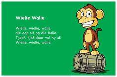 Wielie Walie - Kinderrympies in Afrikaans Alfresco Designs, Afrikaans Language, Kids Poems, Teaching Aids, Kids Corner, Kids Education, Child Development, Pre School, School Projects