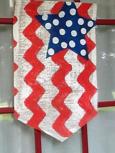 4th of July Burlap Garden Flag - Outdoor Decor