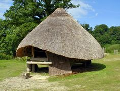 Roundhouses at Castell Henllys, Wales - Travel Photos by Galen R ...
