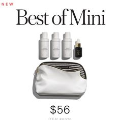 What It Includes: Mini Clean Everyday Shampoo Mini Rinse Everyday Conditioner Mini Wash Everyday Body Wash Mini Lustro Face Oil 2 in Jasmine Cosmetics Bag (8.5 x 3.5 x 5.4)
