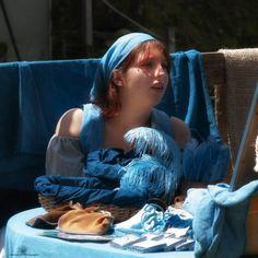 La marchande ! Tableaux Vivants, Costume, Boro, Shades Of Blue, Indigo, Pastel, Japan, Provence, Childhood