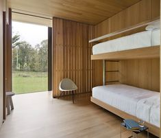 The LM Guest House designed by Desai Chia Architecture.   Floating beds!
