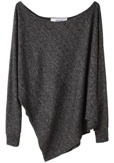 simple grey sweater. Could wear with a white cami underneath and a pair of snug blue jeans. And comfy socks! Always. comfy. socks.