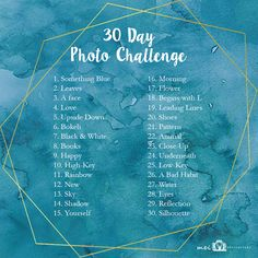 Photography Challenge for all the budding Photographers out there ! A very simple challenge for 30 days *photo-a-day challenge* Let me know when you. Photography Challenge, Photography Basics, Photography Lessons, Photography Projects, Creative Photography, Photography Quotation, Photography Hashtags, Beginner Photography, Photography Composition