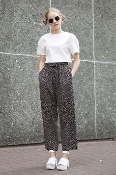 Vintage Floral Trouser-Pants - THE WHITEPEPPER