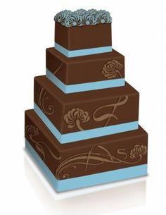 Blue And Brown Wedding Cakes Beautiful Wedding Cakes, Gorgeous Cakes, Pretty Cakes, Amazing Cakes, It's Amazing, Brown Wedding Cakes, Blue Wedding, Dream Wedding, Wedding Colors