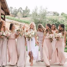 We had so much fun dressing @sav.labrant's bridesmaids on her big day  Her girls wore Show Me The Ring & Dusty Blush from our @mumuweddings collection!