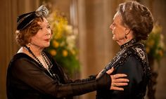 Shirley MacLaine and Maggie Smith in Downton Abbey. I love these dames!