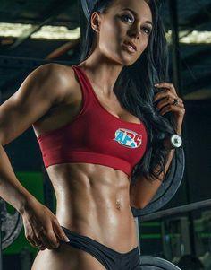 Great Abs Www.OnlyRippedGirls.Com #Fitness #Gym #FitnessModel #Health #Athletic #BeachGirl #hardbodies #Workout I