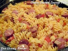 Cheesy Smoked Sausage Pasta- this was excellent, especially bc u didn't have to cook pasta separate! -ss