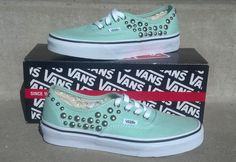 Studded VANS Shoes by CustomStudded on Etsy Check out the website for Cute Vans, Cute Shoes, Me Too Shoes, Sock Shoes, Vans Shoes, Studded Vans, Converse, Vans Style, Vans Off The Wall