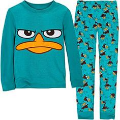 Phineas and Ferb Agent P PJ Pal for Boys -these run pretty snug. Probably needs at least a 6 or bigger Pijama Disney, Disney Pajamas, Perry The Platypus, Phineas Y Ferb, Cute Sleepwear, Loungewear, Cute Pjs, Babydoll, Lazy Day Outfits